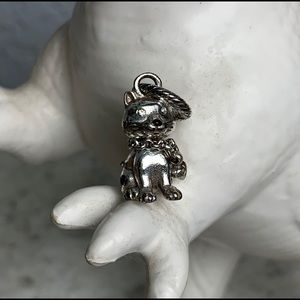 Brighton kitty charm with heart necklace